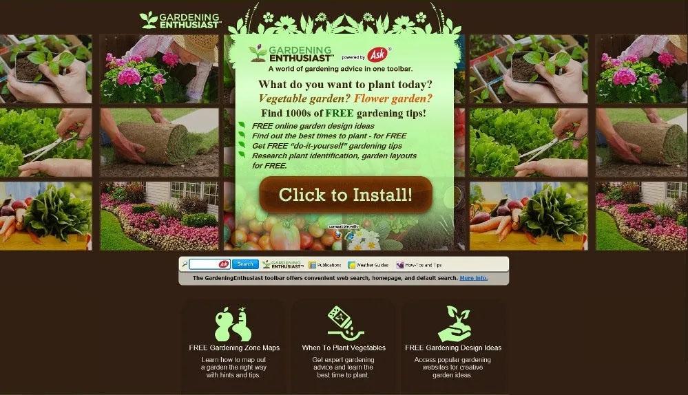 Uninstall GardeningEnthusiast (Browser Hijacker/PUP)