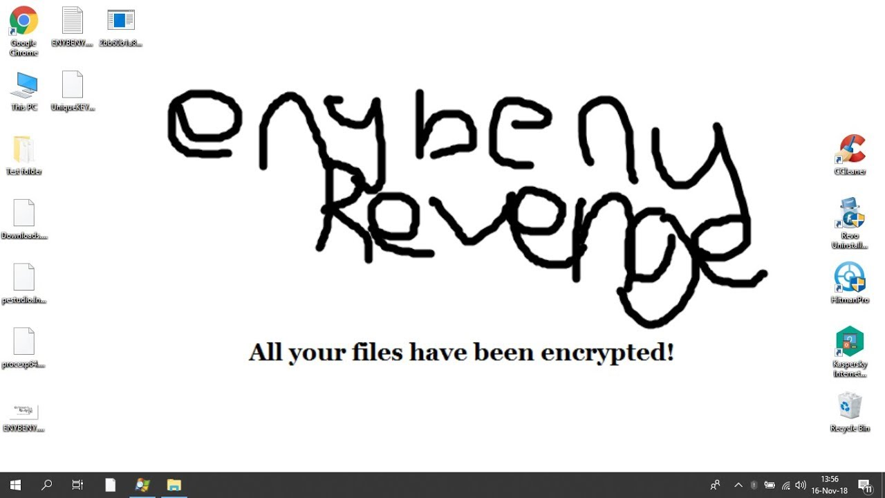 Terminating EnyBeny Revenge Ransomware (Crypto-Malware/Ransomware)