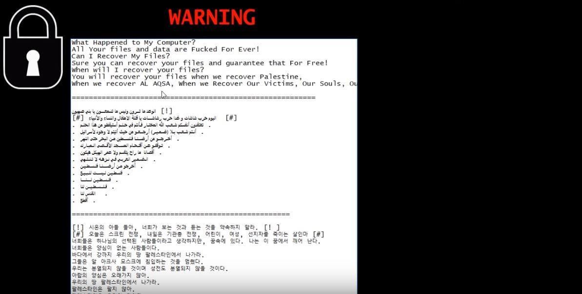 Terminate Israbye Ransomware (Crypto-Malware/Ransomware)