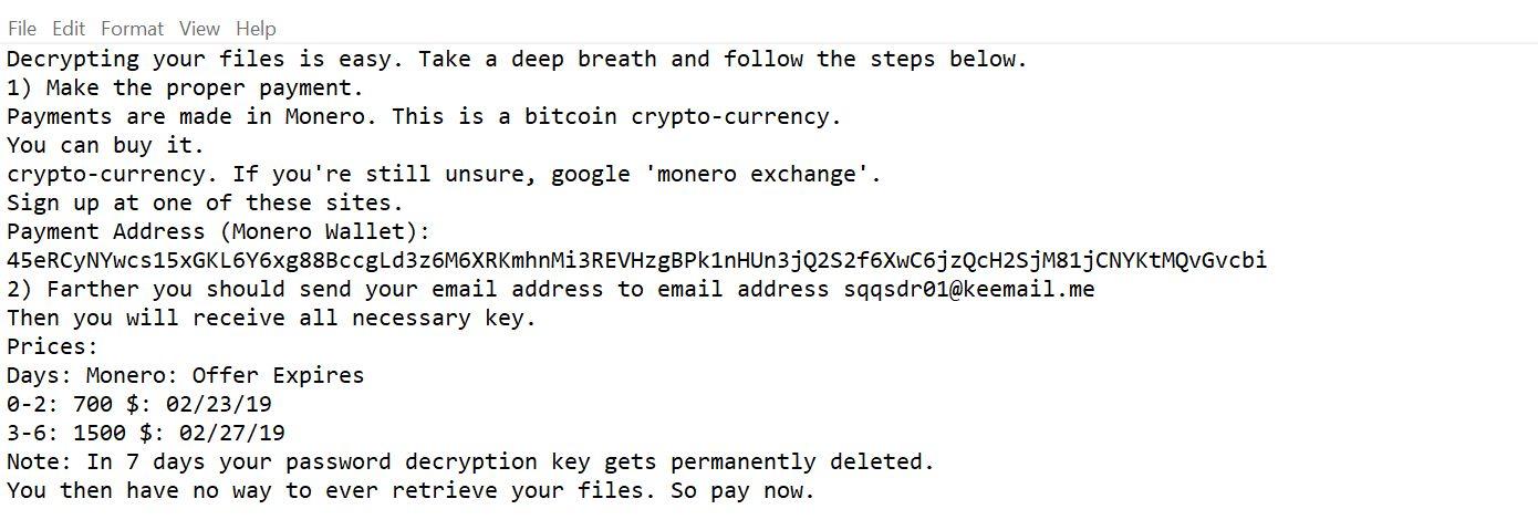 Obliterate Cripton Ransomware (Crypto-Malware/Ransomware)
