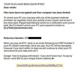 How to Terminate CryTekk Ransomware (Crypto-Malware/Ransomware)