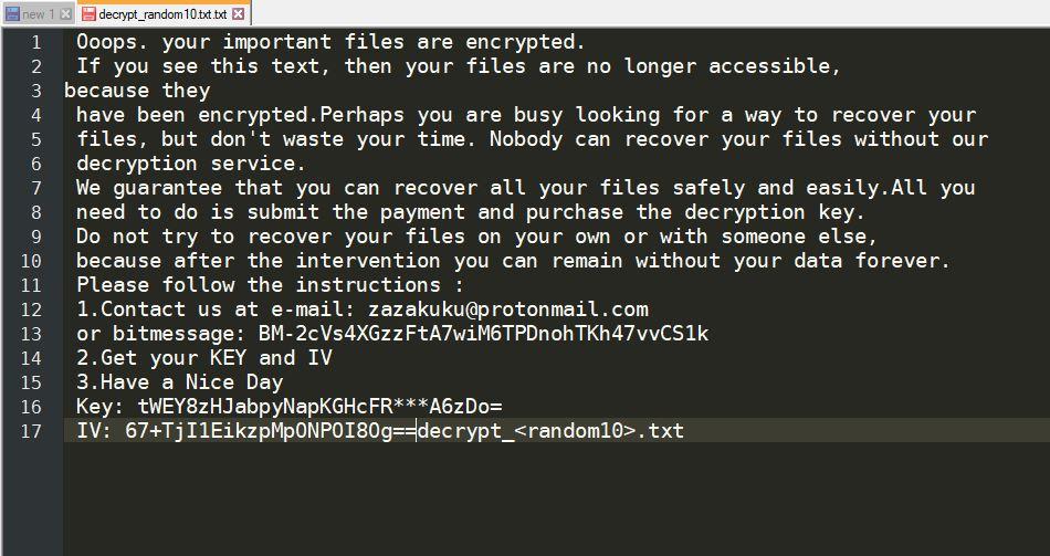Eliminate Enc1 Ransomware (Crypto-Malware/Ransomware)