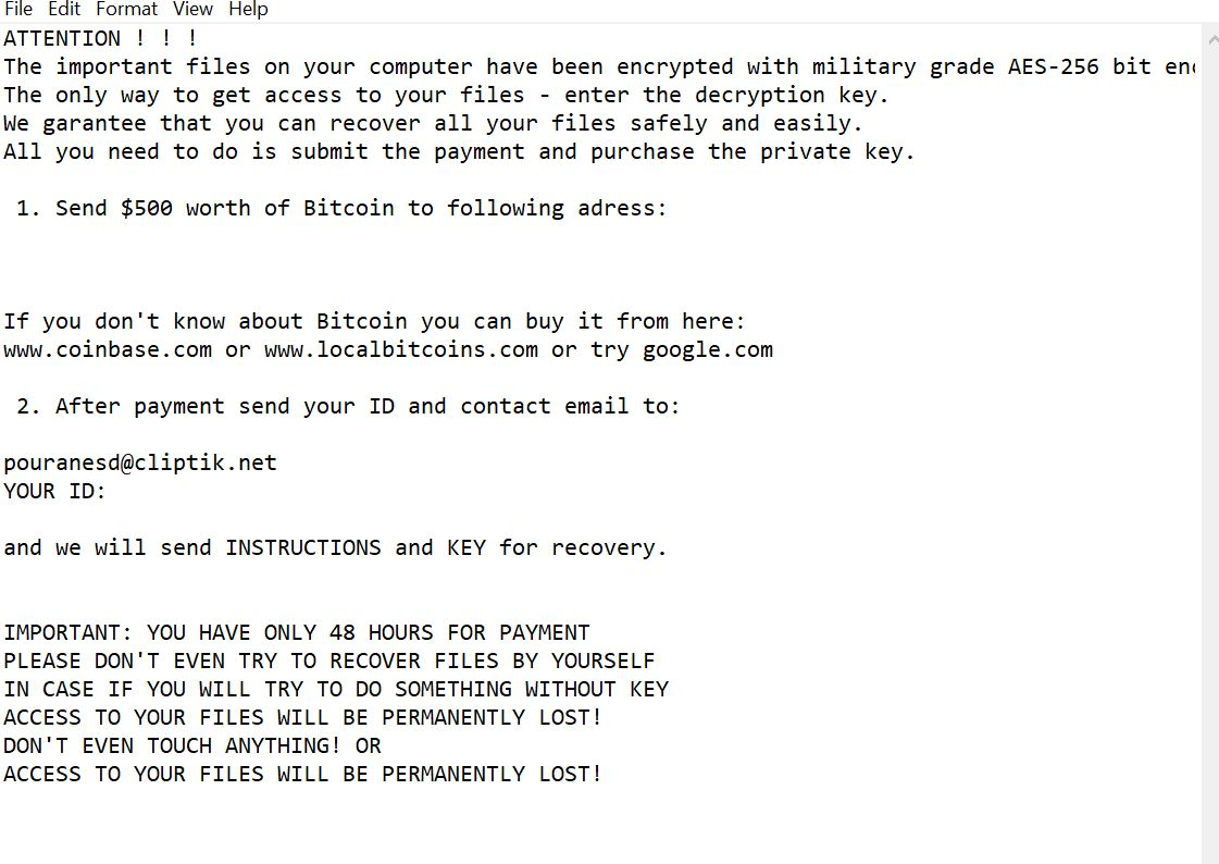 Kill Kali Ransomware (Browser Hijacker/PUP)