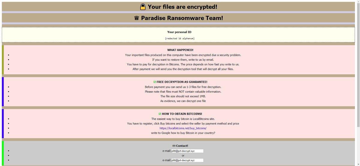 How to Kill Paradise VACv2 Ransomware (Crypto-Malware/Ransomware)