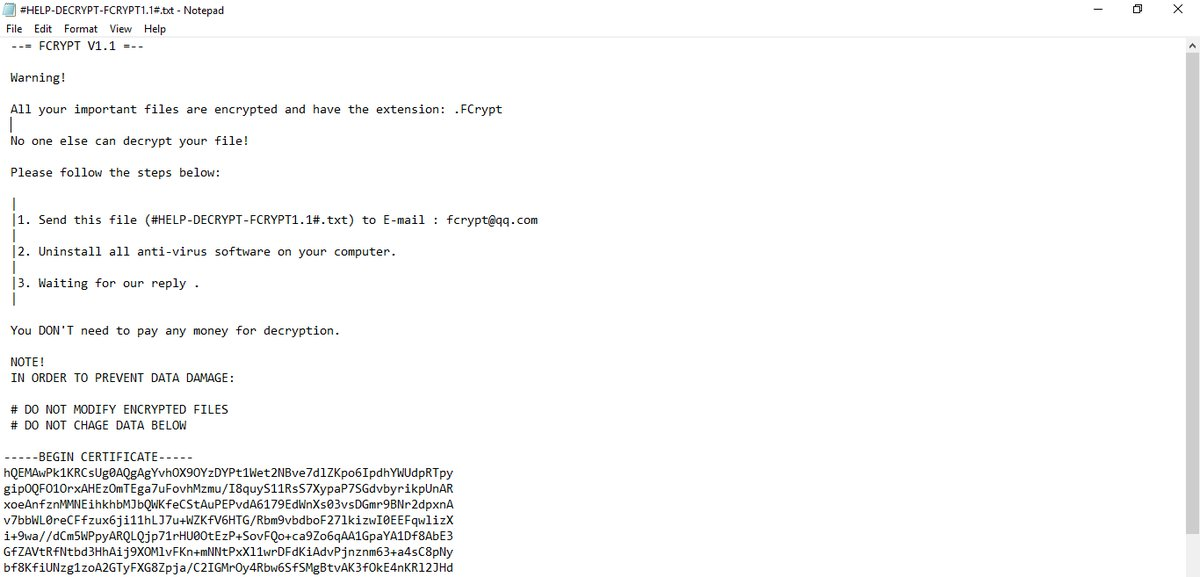 FCRYPT Ransomware