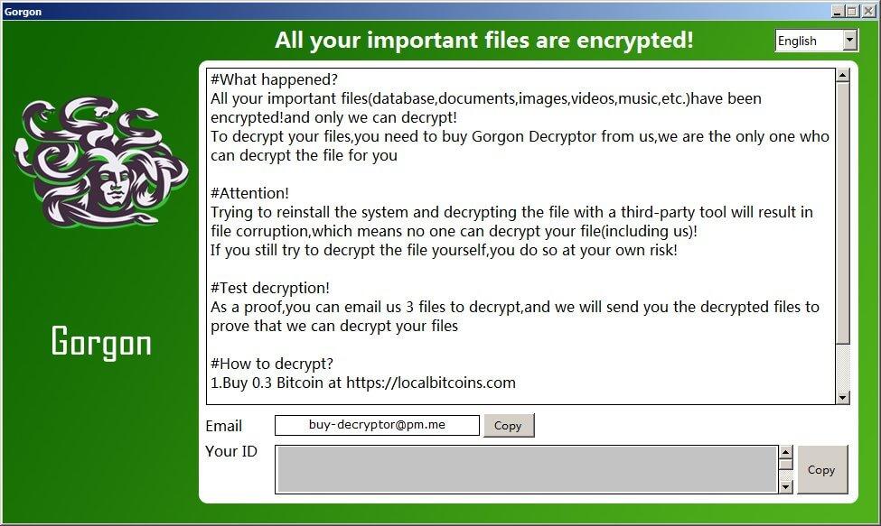 Terminating Gorgon Ransomware (Crypto-Malware/Ransomware)