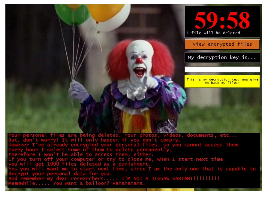 Wipe Out Pennywise Ransomware (Crypto-Malware/Ransomware)