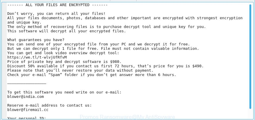 How to Terminate Promos Ransomware (Crypto-Malware/Ransomware)