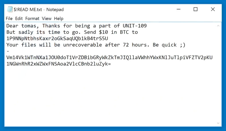 How to Obliterate UNIT09 Ransomware (Crypto-Malware/Ransomware)