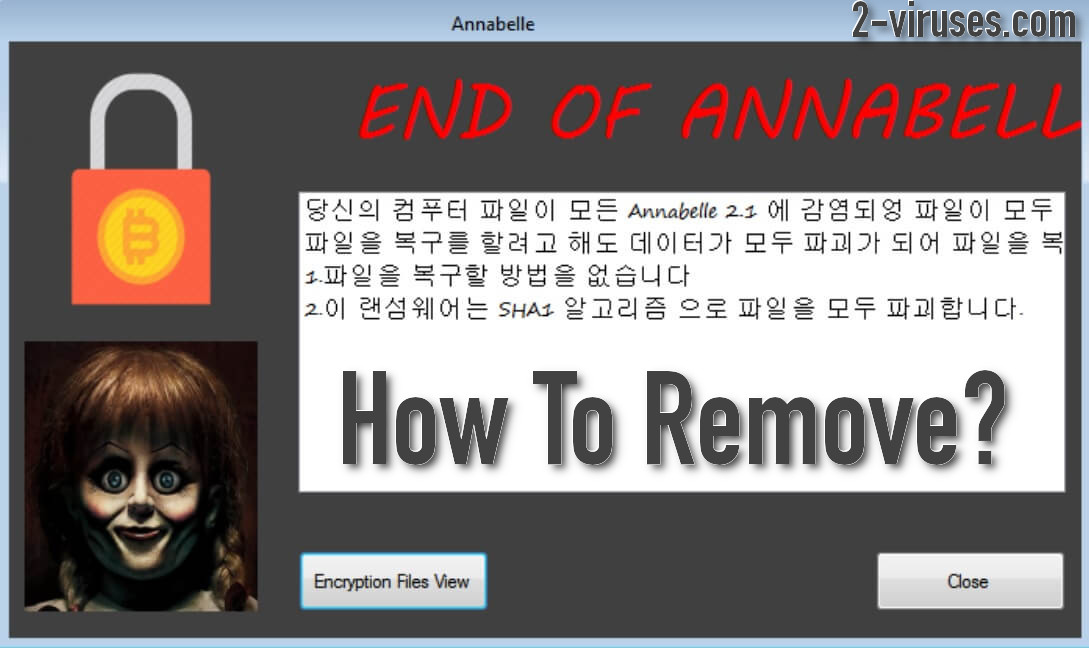 Wipe Out Annabelle 2.1 Ransomware (Crypto-Malware/Ransomware)