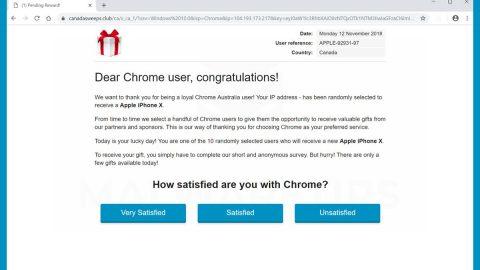 Dear Chrome User Congratulations Scam thumb