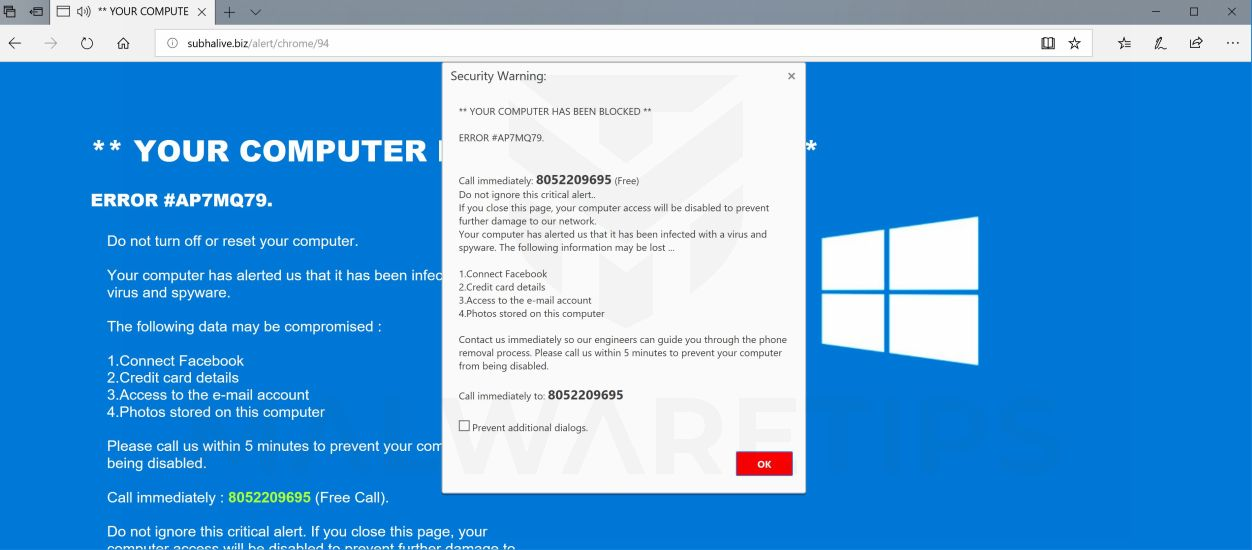 How to Get Rid of ERROR #AP7MQ79 Scam (Tech Support Scam/Adware)