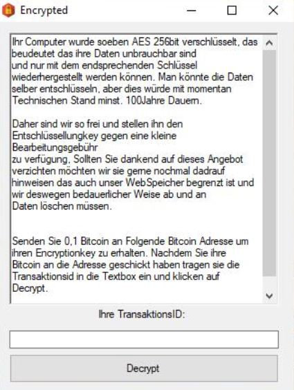 Terminating Herbst Ransomware (Crypto-Malware/Ransomware)