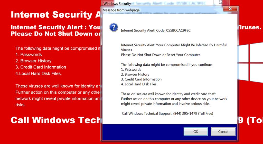 Internet Security Alert Code 055BCCAC9FEC