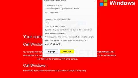 Windows Security Alert Scam thumb