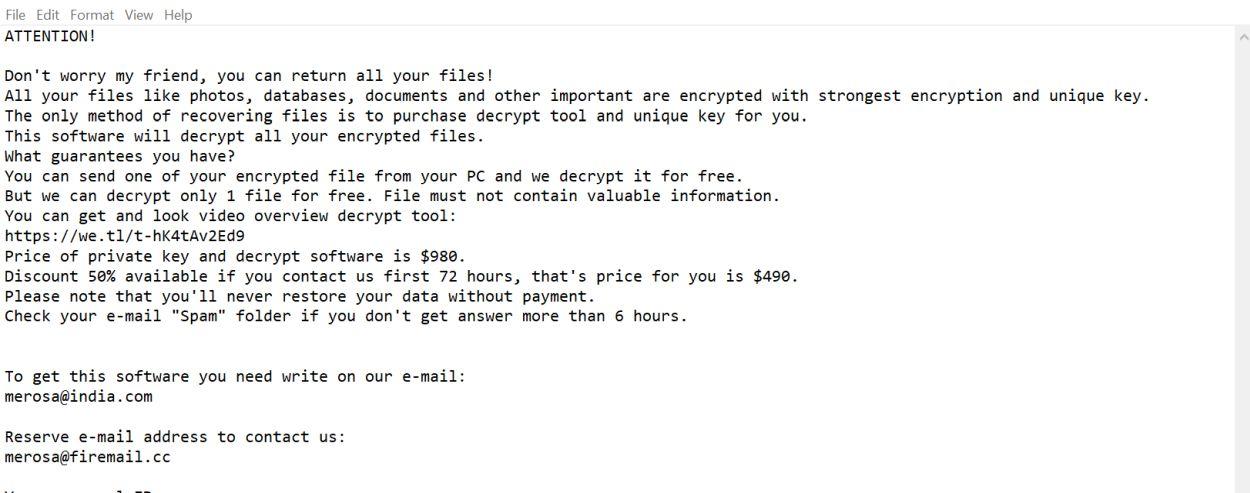 Kill Grovat Ransomware (Crypto-Malware/Ransomware)