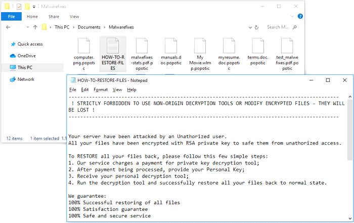 Popotic Ransomware
