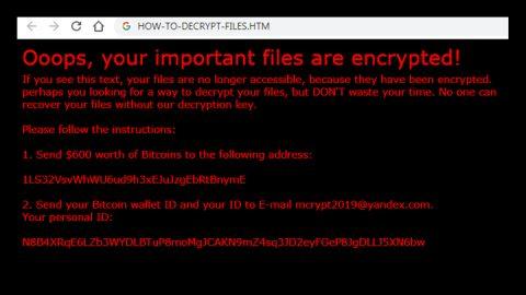 Xorist-mcrypt2019 Ransomware thumb