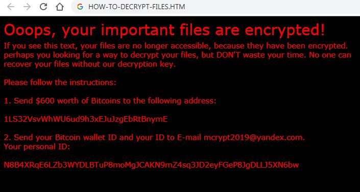 Xorist-mcrypt2019 Ransomware