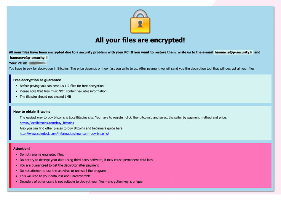 2k19cry Ransomware