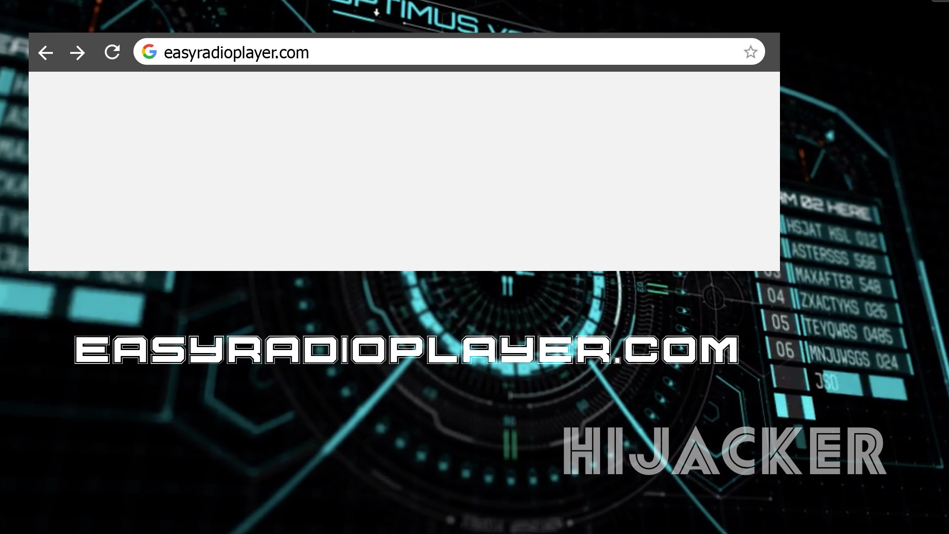 EasyRadioPlayer Hijacker