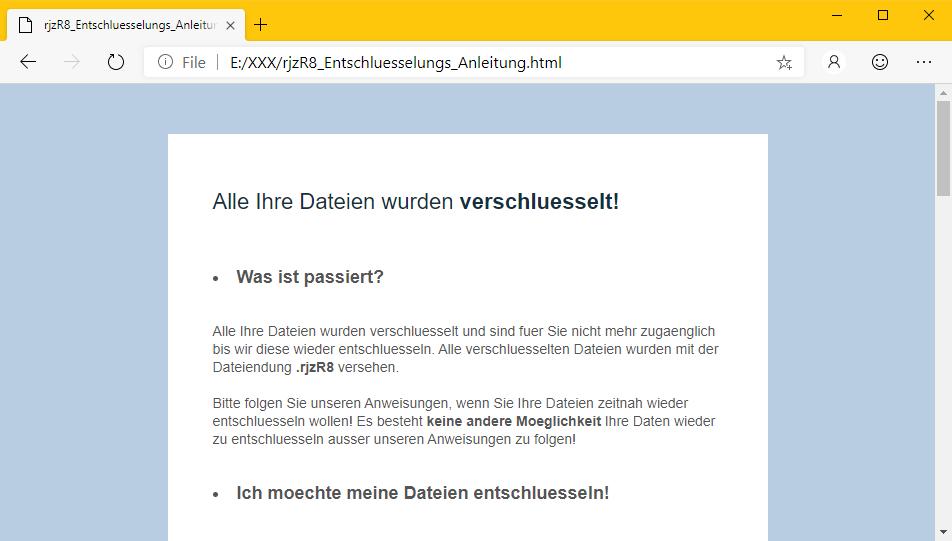 GermanWiper Ransomware