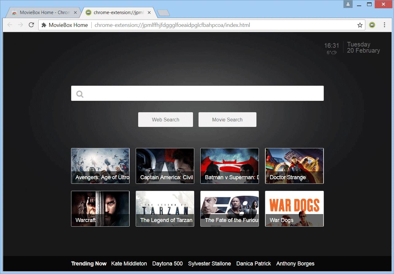 MovieBox Default Search