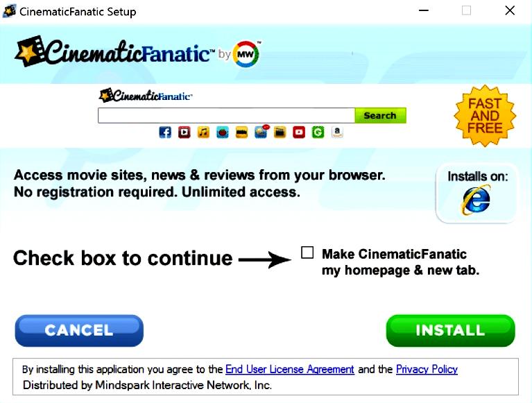 CinemaFanatic Toolbar