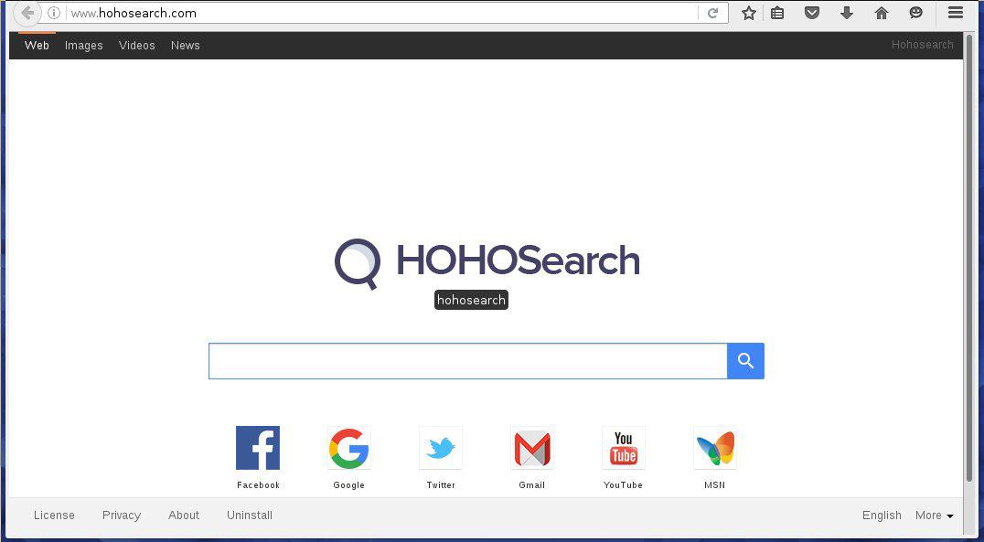 Hohosearch Hijacker