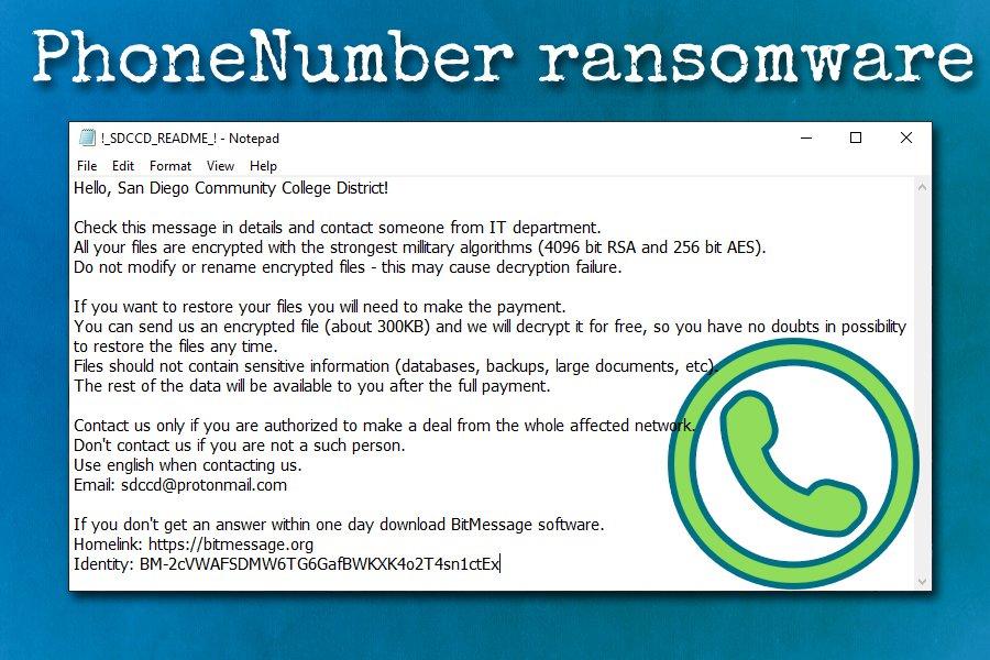 PhoneNumber Ransomware
