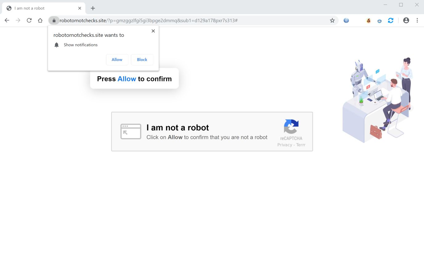Robotornotchecks site Redirect