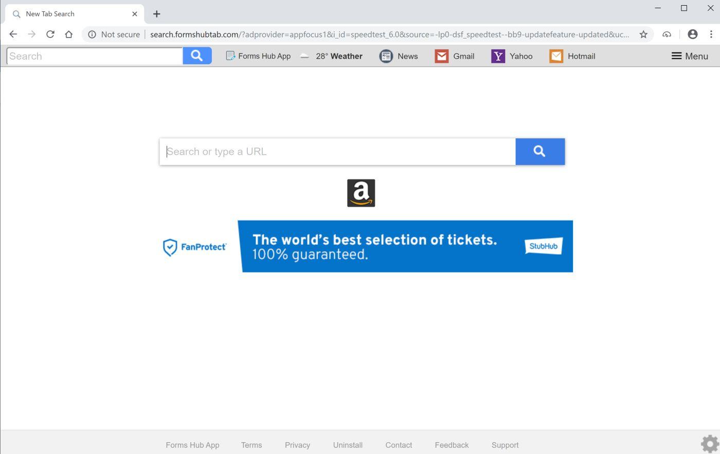 Search.formshubtab.com Hijacker