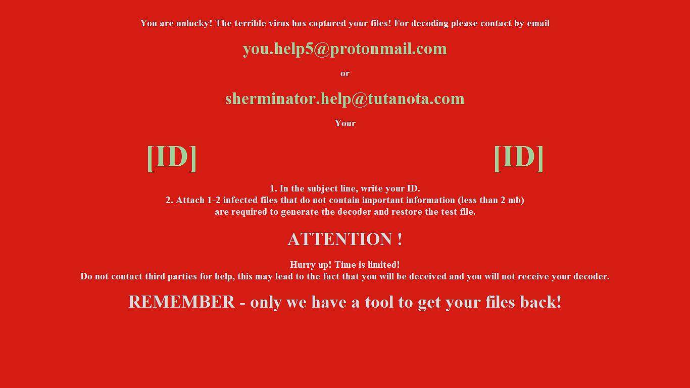 Sherminator Ransomware