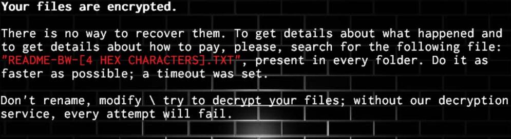 BWall Ransomware