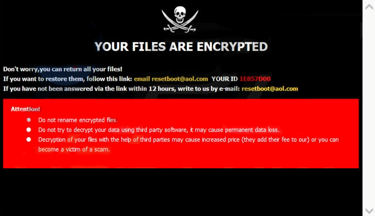 Eliminating Boot Ransomware Crypto-Malware